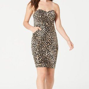 B Darlin Strapless Animal-Print Dress